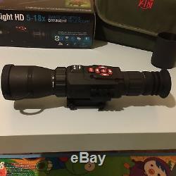 ATN X-SIGHT HD 5-18x Smart Day & Night Rifle Scope 1080p / Night Mode/GPS/WiFi