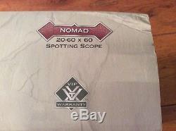Angled Vortex Nomad 20-60x60 Hunting spotting scope Birding Lifetime Warranty