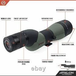 Athlon Optics Argos 20-60×85 HD Straight Angle Spotting Scope