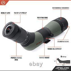 Athlon Optics Argos HD 20-60x85 Spotting Scope 45-Degree Hunting Spotting Scope