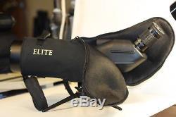 Bushnell Elite. 20-60 x 80 spotting scope. Ed lens. Waterproof. Made in japan