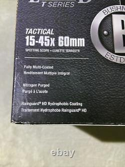 Bushnell Legend Tactical-T-Series Spotting Scope 15-45X60 Mil-Hash Reticle Rail