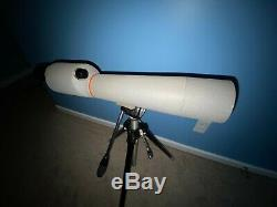 Bushnell Spotting Scope D18385 40x 60mm Lens & Husky III Elevator Tripod 60