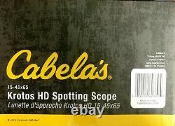 Cabelas Krotos (HD) Spotting Scope 15-45x65MM Straight