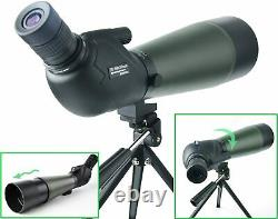 Gosky 20-60x 80 Prism Spotting Scope Target Archery Shooting Hunting Birding