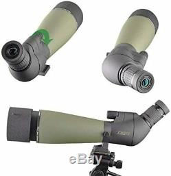 Gosky 20-60x 80 Zoom Spotting Scope Target Shooting Hunting HD with Camera Mount