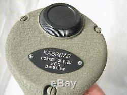 Kohiyama Kassnar Vintage Spotting Scope with box 20X 30X Tripod Kohi Yama