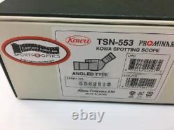 Kowa Prominar Spotting Scope TSN-553 NEW Benefits CPNassau