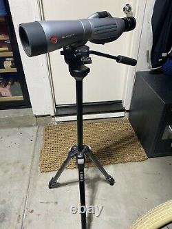Leica Televid 77 Professional Spotting Scope mounted on high quality tripod
