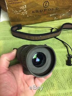 Leupold 10x20x40 gold ring compact spotting scope