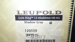 Leupold 120559 Gold Ring 12-40x60mm HD Spotting Scope Kit, Shadow Gray
