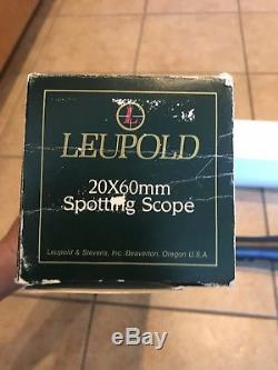 Leupold Gold Ring 20 x 60mm spotting scope high grade made in USA