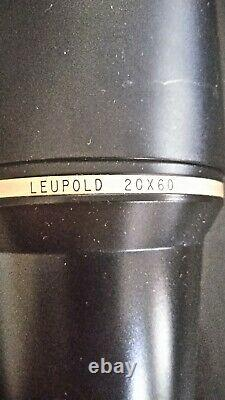 Leupold Gold Ring 20x60 Spotting Scope