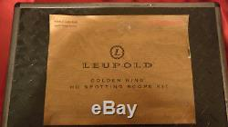 Leupold Golden Ring 12-40x60mm HD Spotting Scope With Case and All Accessories