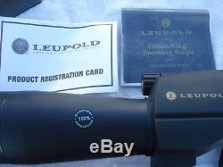 Leupold Wind River Sequoia Spotting scope 15-45X 60 Birding hunting target shoot