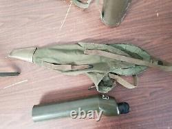 M-49 Spotting Scope M-15 Tripod M42A1 and M164 Carrying Cases USGI Vietnam Era