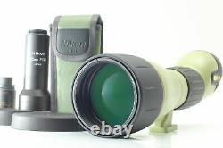 N MINT Nikon Field Scope ED82 + 50x Wide DS Eyepiece & Camera Attachment JAPAN