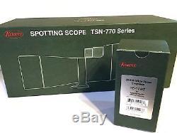 New KOWA TSN-773 & TE-11WZ Angled Type XD 3/77mm Spotting Scope & Eyepiece