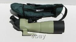 Nikon 80 straight body spotting scope with20-60x eyepiece and case EXCL cond