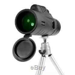 Ohuhu Waterproof 12x52 Monocular Super Clear Spotting Scope Telescope With Tripod