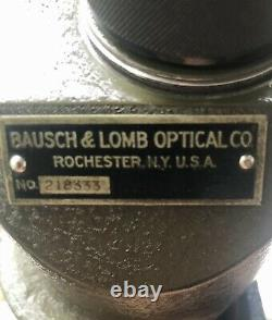 Original Hardened Military BAUSCH & LOMB Optical Spotting Scope w FREELAND Stand