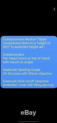 Outdoorsman Hunting Tripod And Swarovski Spotting Scope