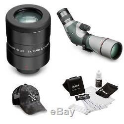 Razor HD 16-48x65 Angled Spotting Scope with18x-23x Long Range Eyepiece + Hat Kit