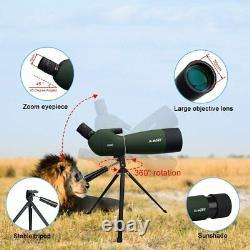 SVBONY SV28 Spotting Scopes with Tripod Hunting 25-75x70 45° Angled Waterproof