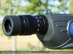 Snypex 20-60x80mm Knight T80 Water/Fog Proof Straight Spotting Scope & Eyepiece