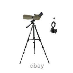 Spotting Scope SV401 20-60x80 45° Waterproof Nitrogen FMC+adapter+SV101Tripod US