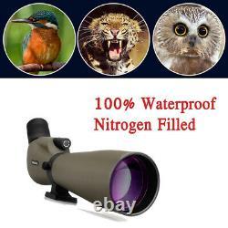 Spotting Scope SV401 20-60x80mm 45° Waterproof Nitrogen FMC +Phone adapter US