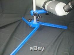 Spotting scope stand 7/8 rod-High Power-Small-bore-ADJUSTABLE LEGS-BLUE, PRS