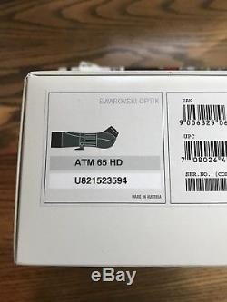 Swarovski ATM 65 HD Spotting Scope No Reserve