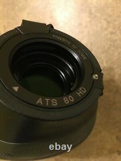 Swarovski ATS 80 HD Spotting Scope 20-60x Eyepiece Angled Pristine Condition