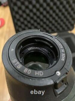 Swarovski STS 80 HD 25-50x Spotting Scope Straight 25-50x Eyepiece, Pelican Case