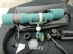 Vintage Bausch & Lomb BALscope SR, 20x Mag, 60mm Spotting Scope, Tripod & Case