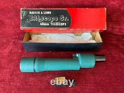 Vintage Bausch & Lomb BALscope Sr. Spotting Scope with20x and 60x Eyepieces