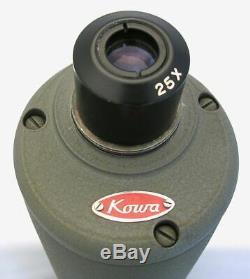 Vintage KOWA SPOTTING SCOPE 25x Eyepiece 60mm Lens in Original Box