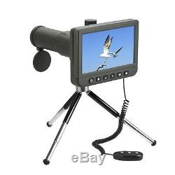 Vividia SS-550 LCD Spotting Scope Telescope 50x with 5 LCD Monitor 1080P Video