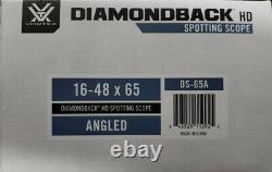 Vortex Diamondback HD 16-48x65 Angled Spotting Scope DS-65A VIP Warranty New