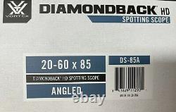 Vortex Diamondback HD 20-60x85 Angled Spotting Scope DS-85A New