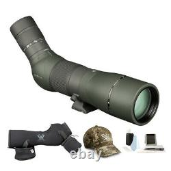 Vortex Optics Razor HD 22-48x65 Spotting Scope Angled with Fitted Case & Hat