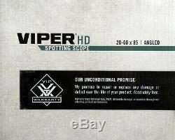 Vortex Optics Viper HD Spotting Scope 20-60x85mm Angled, Green V502