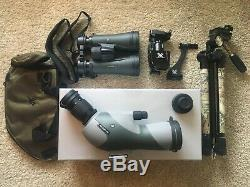 Vortex Razor HD Angled Spotting Scope and Binoculars with accessories