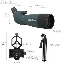 Waterproof 25-75X70 Zoom Monocular BAK4 Spotting Scope with Tripod & Phone Adapter