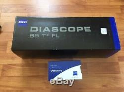 Zeiss Victory Diascope 85 T FL 20-60x Eyepiece Spotting Scope Straight New